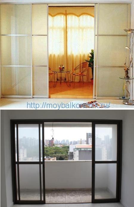 как сделать раздвижные стёкла на окнах